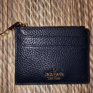 NWOT Kate Spade Card Holder - Blue Leather